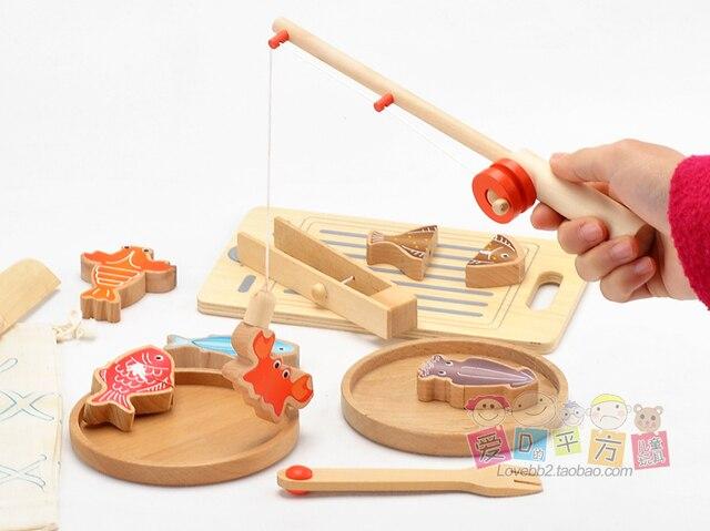 Houten Keuken Kind : Gratis verzending in japan houten vissen koken speelgoed