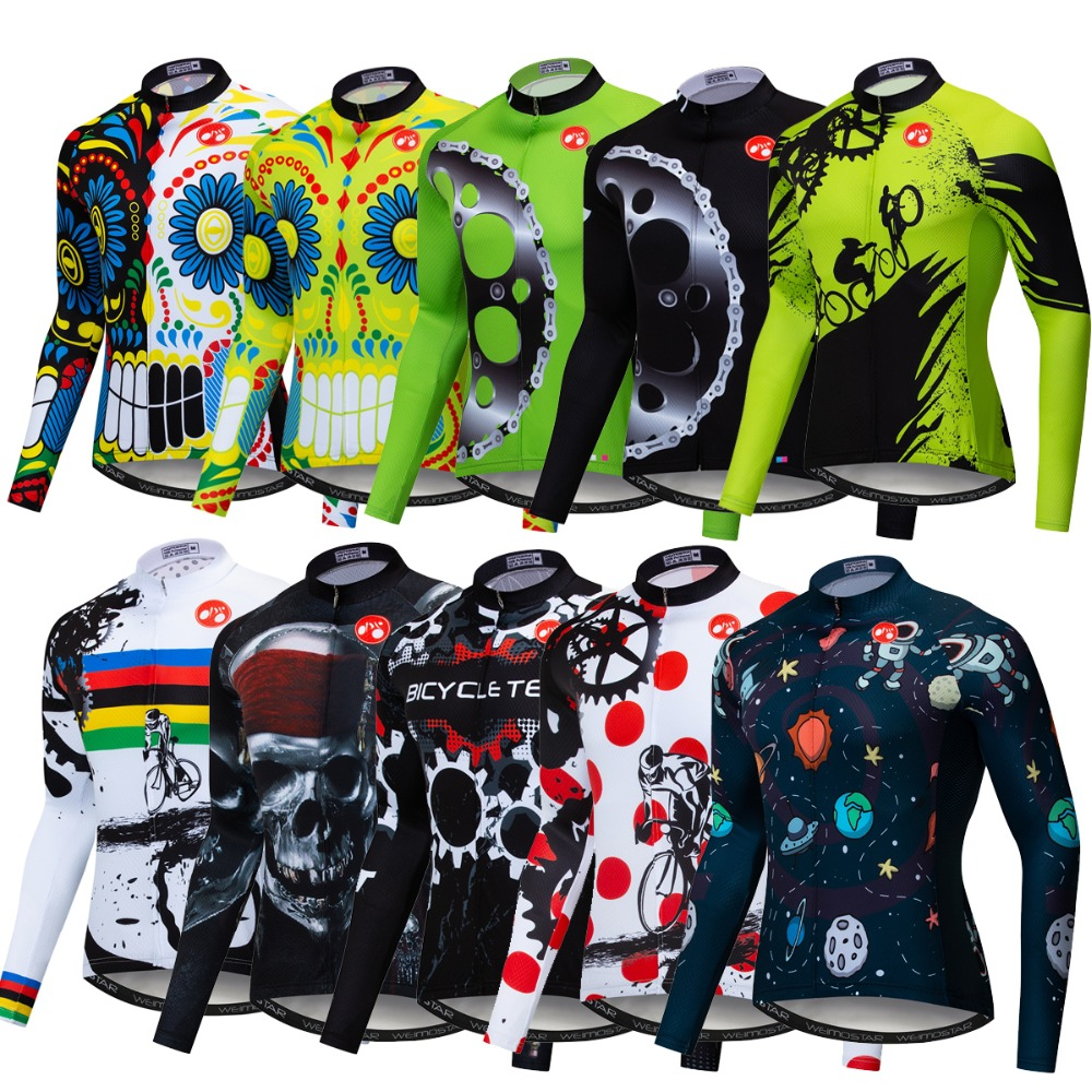 2019 Winter Thermal Fleece Men Long Sleeve Cycling Jersey Clothing Bicycle Outdoor Mountain Road Uniform Bike Triathlon Wear