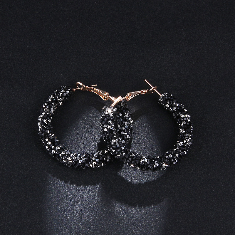Women's Stylish Hoop Earrings with Colorful Crystals Earrings Jewelry Women Jewelry