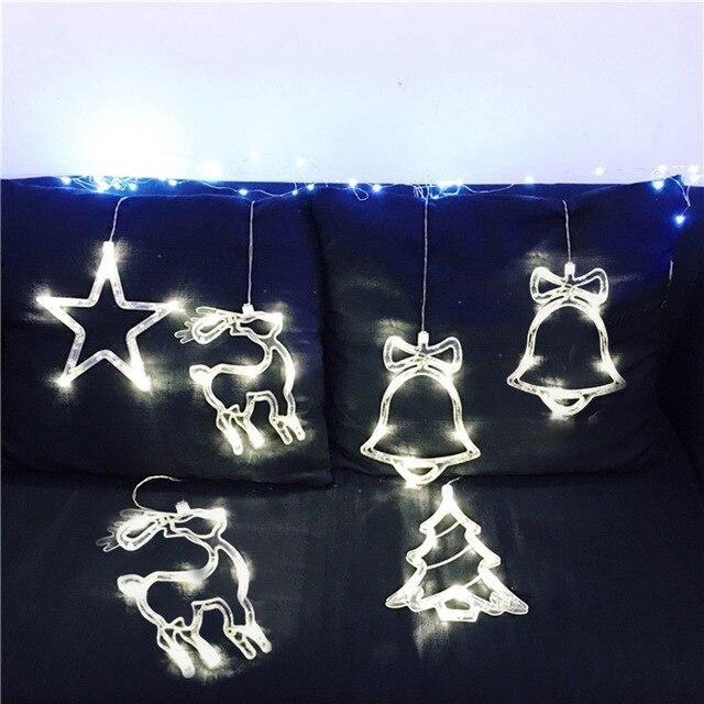Led Weihnachtsbeleuchtung Baum.Us 5 92 30 Off 8 Led Weihnachtsbeleuchtung Licht Stern Glocke Baum Glas Fenster Sucker Lampe Haus Urlaub Weihnachten Party Decor Romantische Fairy