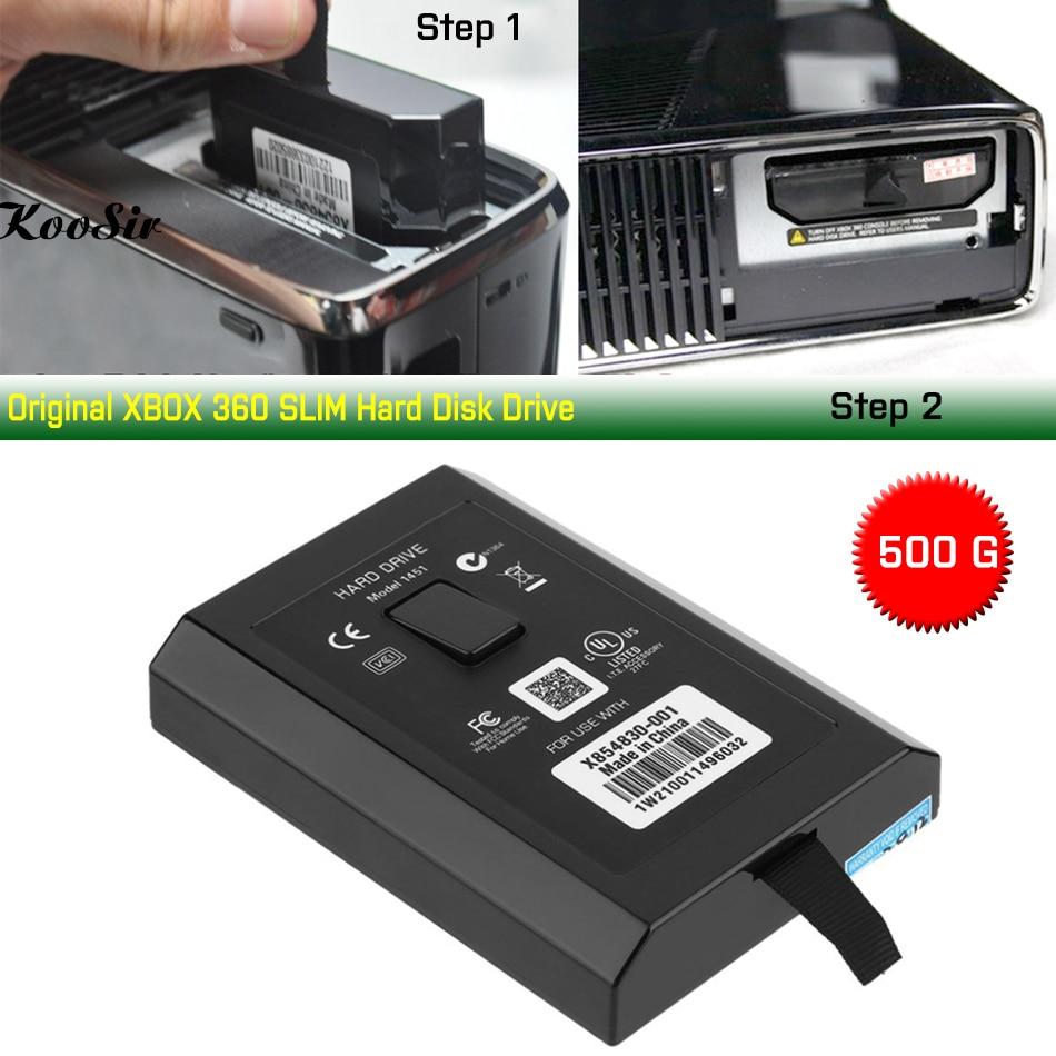 Disque dur d'origine 500G pour XBOX 360 SLIM E Console 500GB disque dur disque dur pour Microsoft Xbox 360 S/E Consola