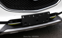 Refit Front Hood Billet Grille Grill Mesth Horizontal Sticker Style FOR M Azda 2017 2018 CX
