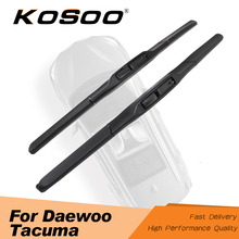 KOSOO For Daewoo Tacuma 24+19 2000 2001 2002 2003 2004 2005 Car Windscreen Wiper Blades Fit Hook Arms Auto Accessories Styling 27 27 pair windscreen wiper blades for mercedes benz s class w220 2001 2002 2003 2004 2005 windshield car accessories