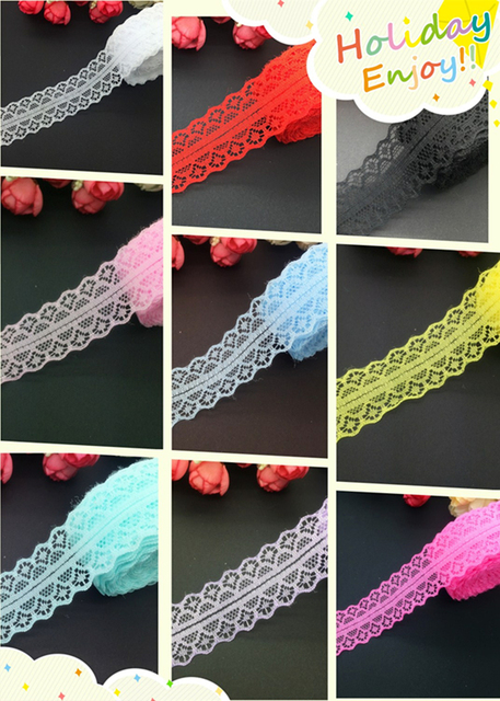 10yards/lot 30mm Wide Bilateral Handicrafts Embroidered Net Lace Trim Ribbon Wedding/Birthday/Christmas Decorations