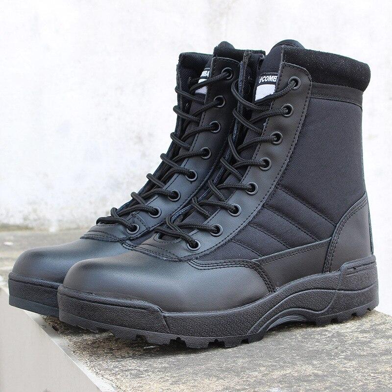 7eee564b Mężczyzna zima na zewnątrz podróży buty wojskowe taktyczne szturmowy buty  trampki męskie siły specjalne antypoślizgowe sportowe