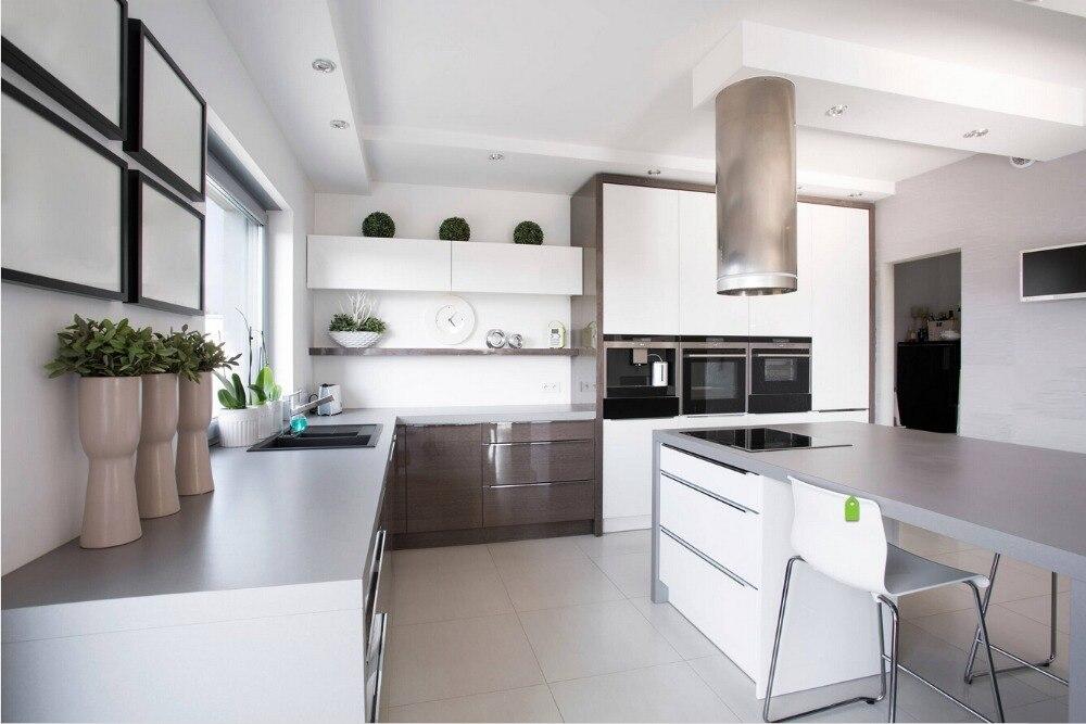 2017 fornitori cina nuovo design mobili armadio da cucina modulare vernice bianco lucido lacquere dular
