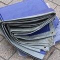 Сверхлегкий 100 г 3 м x 4 м синий и серый брезент, короткое время водонепроницаемый tarp. открытый ткань пыли. холст
