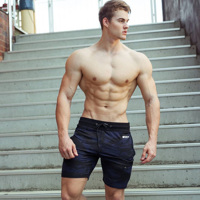 New Fashion Men Sporting Beaching Shorts Trousers Cotton Bodybuilding Sweatpants Fitness Short Jogger Casual Gyms Men Shorts