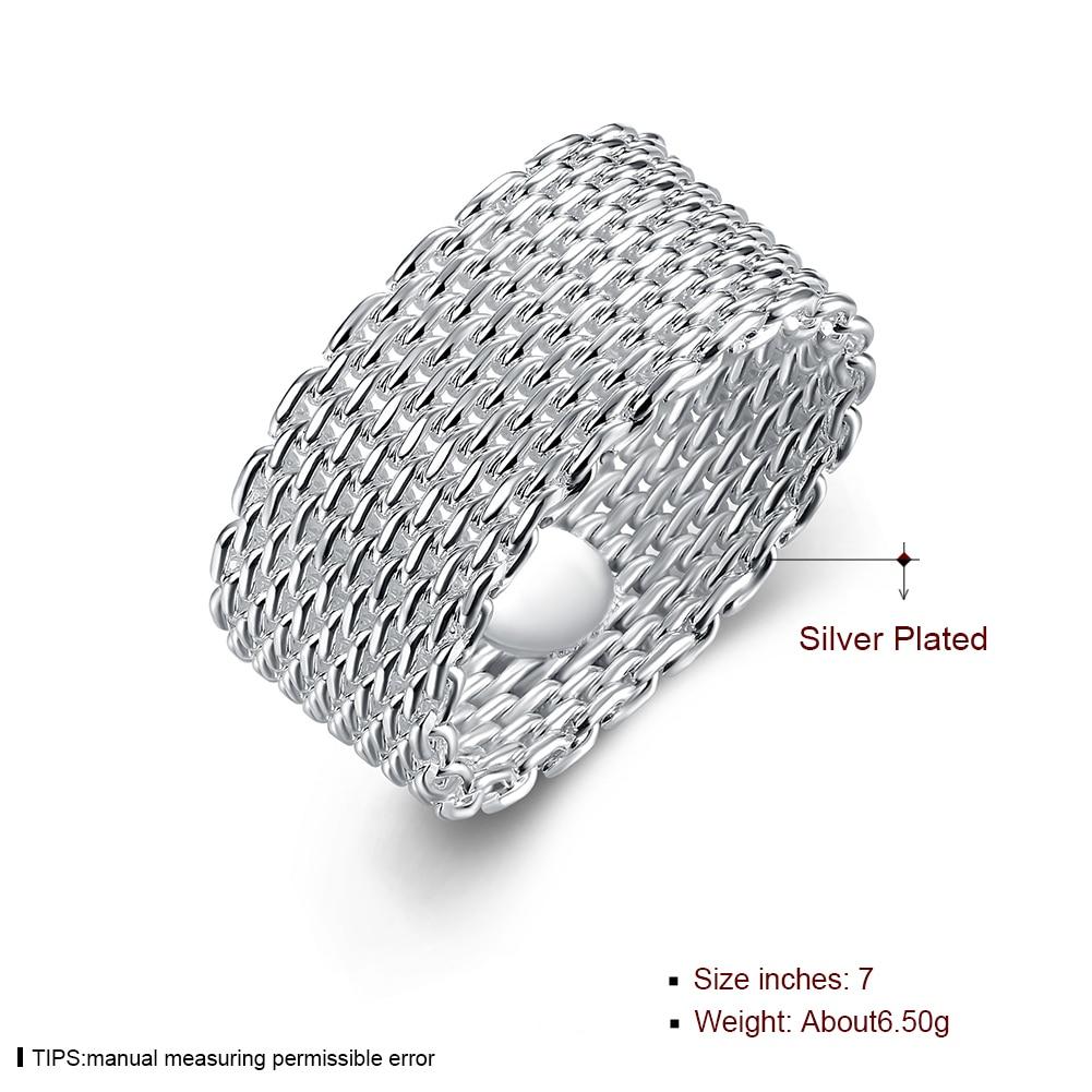 Anello del tessuto placcato argento all'ingrosso libero di trasporto, - Bigiotteria - Fotografia 5