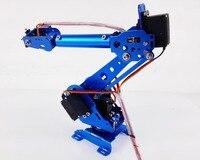 6 Dof Robot Arm Vehicle Mounted Robot Arm for Smart Sar,Robot Servos Bracket +Mechanical Manipulator Aluminum Alloy