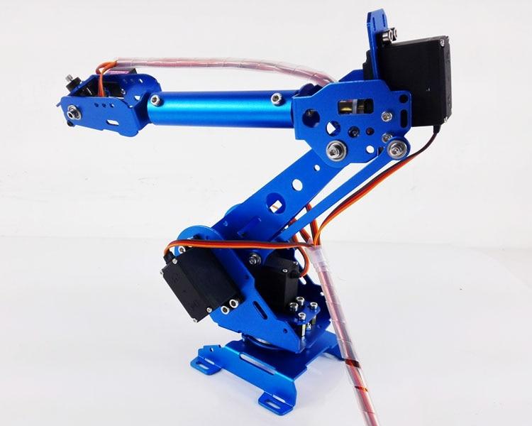 6 Dof Robot Arm Vehicle Mounted Robot Arm for Smart Sar,Robot Servos Bracket +Mechanical Manipulator Aluminum Alloy abb 6dof industrial robot mechanical arm alloy robotics arm rack with servos for arduino assembled