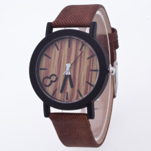 reloj mujer New Arrival Casual Wrist Watches For Men And Women Wooden Watch Dial Students Watch Jeans Band  Quartz Clock 1085