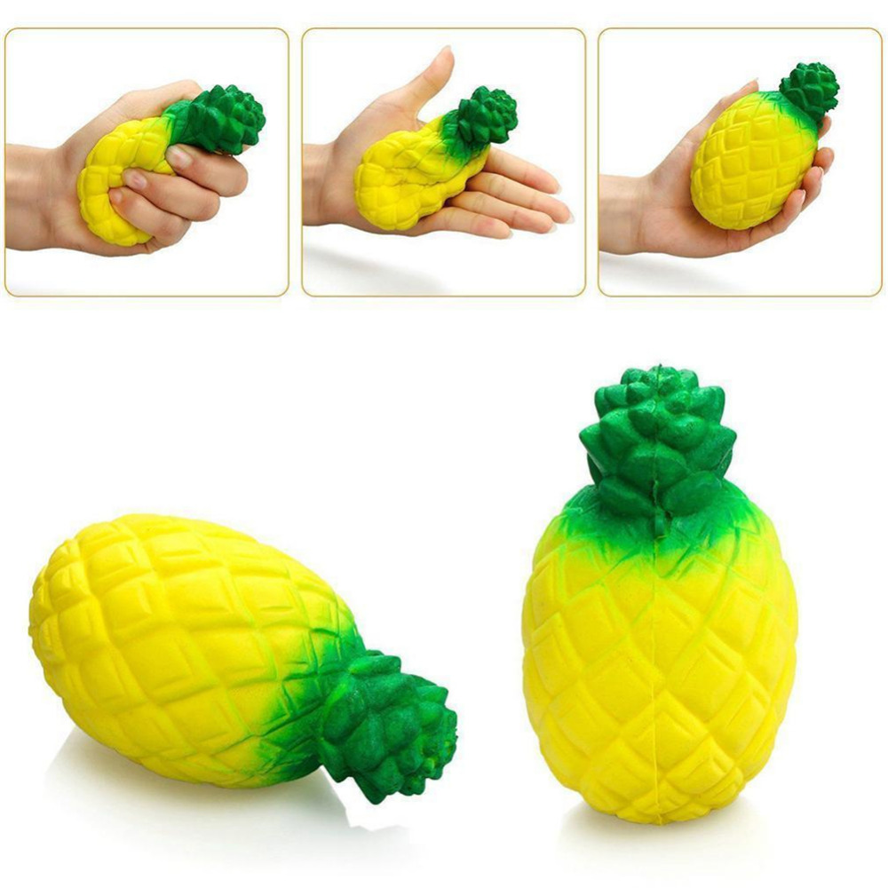 Squishy Squeeze Slow Rising Simulation Jumbo Pineapple Fruit Model Fun Relieve Stress Relief Healing Toy
