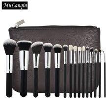 c17b233193d1b Pro 15 piezas maquillaje pinceles Set Fundación polvo de sombra de ojos maquillaje  cepillos Kabuki cosméticos