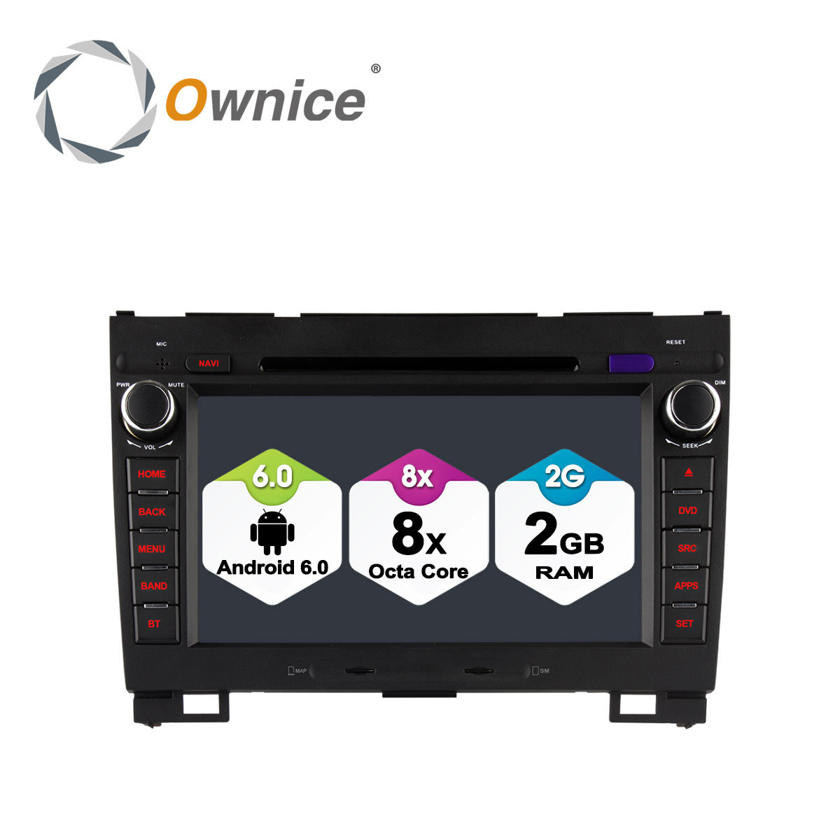 Ownice C500 Android 6.0 Octa 8 Core 4g SIM LTE LECTEUR DVD de VOITURE Pour Great Wall Hover H3 H5 avec GPS navigation radio 32g ROM