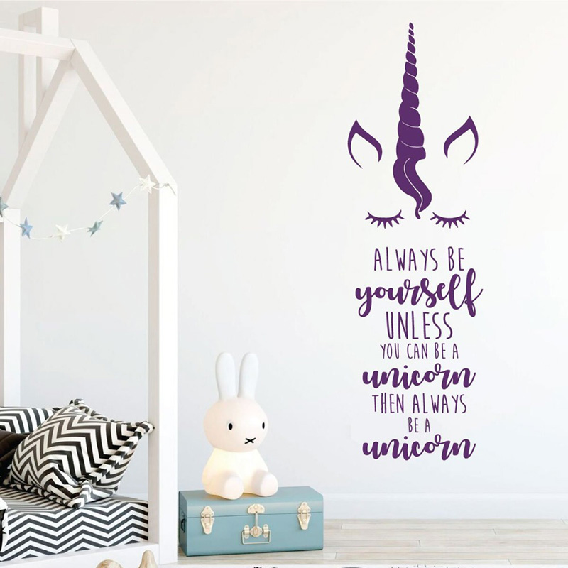 Unicorn and princess carriage personalized vinyl wall art decal transfer Dekoration Möbel & Wohnen