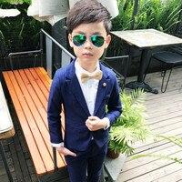 Infantil Baby Boys Suit Jackets 2018 Cotton Kids Blazers Wedding Suits Boy Formal Wear Coat Pants