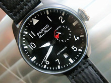 48mm Parnis Fashional Watch Black dial Power Reserve Automatic Pilot s Wristwatch