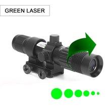 Тактический зеленый лазерный прицел регулируемый луч Dia Зеленый лазерный фонарик Designator с 20 мм Рельсом ласточкин хвост для наружной охоты