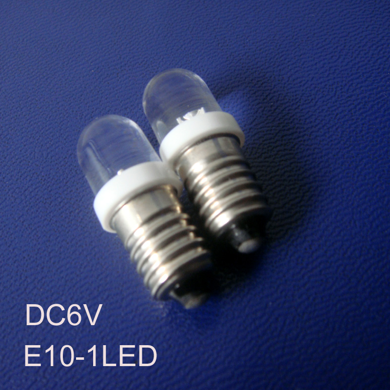 High quality 6v led E10 Warning lamps,6.3v led e10 lights,e10 lights led 6.3v E10 led Indicator light free shipping 10pcs/lot image