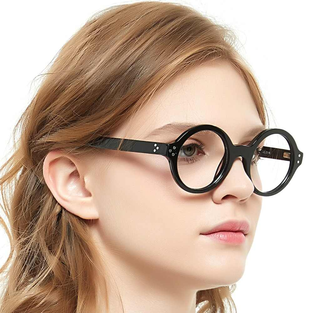 7a02ad7cac86 ... OCCI CHIARI Retro Round Frame Brand Design Prescription Nerd Lens  Medical Optical Glasses Frame black for ...