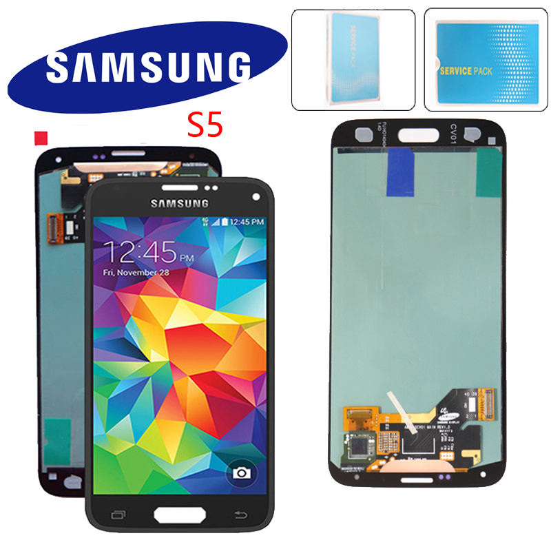ORIGINAL SUPER AMOLED 5.1'' Display for SAMSUNG Galaxy S5 LCD Touch Screen for S5 i9600 G900 G900F G900M G900H SM G900F-in Mobile Phone LCD Screens from Cellphones & Telecommunications    1