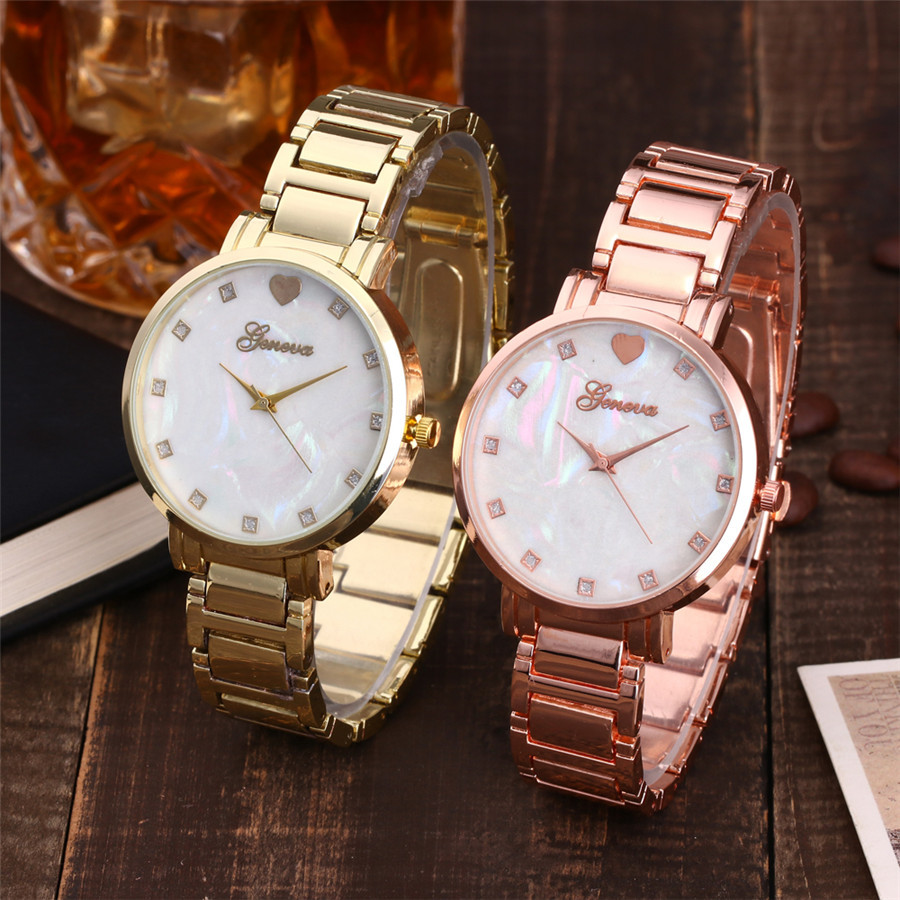 Us11 Feminino Uhr Relogio In Perle Der Quarzuhr Mode Strass Frauen Luxus Armbanduhr Edelstahl 49mode Rose Gold Mutter Zifferblatt KFculT31J