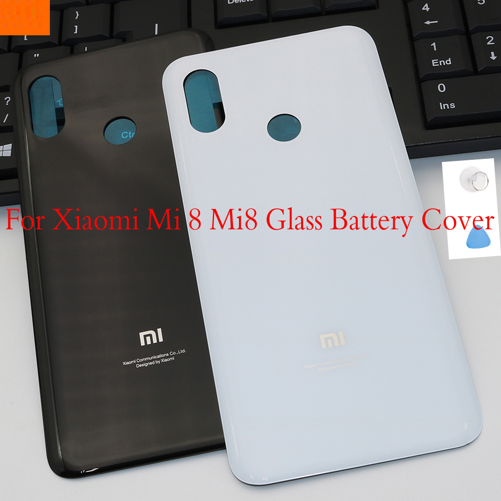 Fashion Glass Rear Housing <font><b>Cover</b></font> For <font><b>XIAOMI</b></font> <font><b>MI</b></font> <font><b>8</b></font> Mi8 Back Door Replacement <font><b>Battery</b></font> <font><b>Cover</b></font> with Adhesive Sticker image