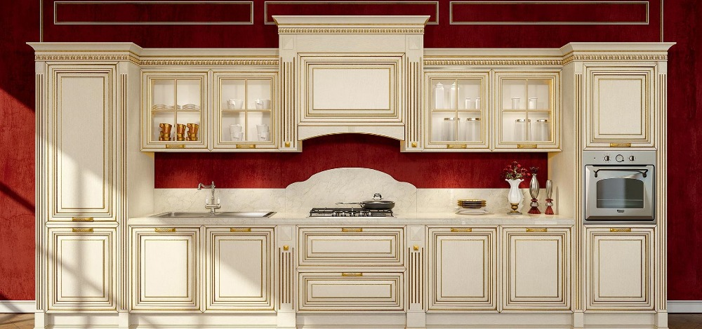 best wood for kitchen cabinets luxury white kitchen cabinets solid wood with gold 12274