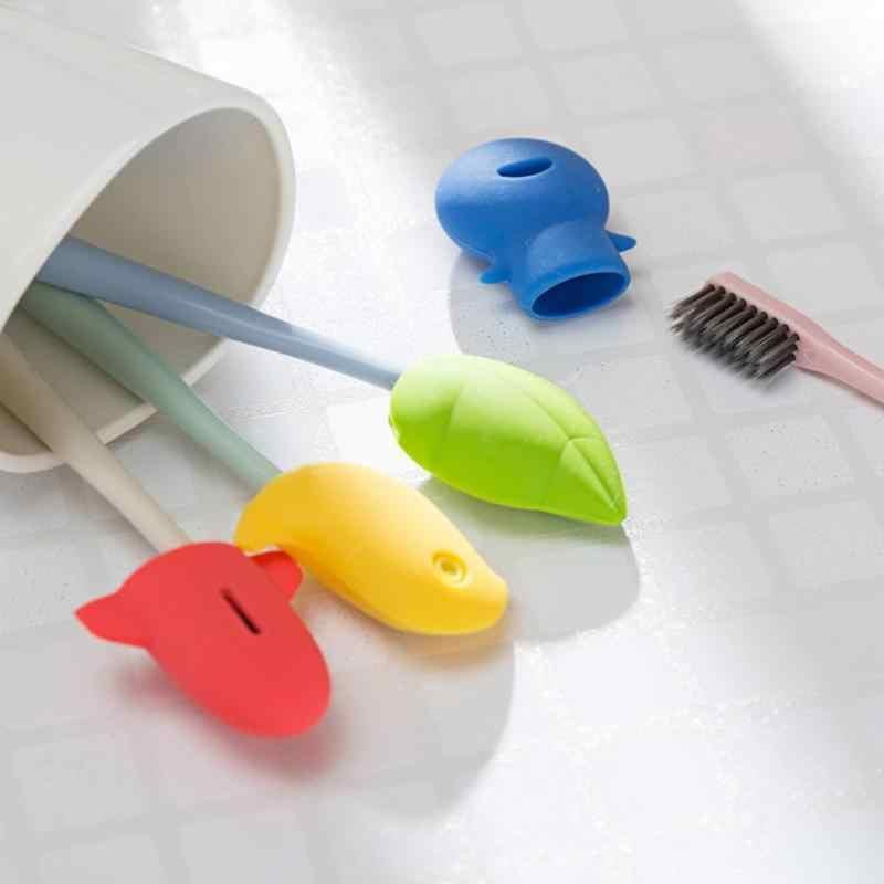 Мультяшная Силиконовая зубная щетка защитный колпачок портативный дорожный сетчатый чехол для кисти