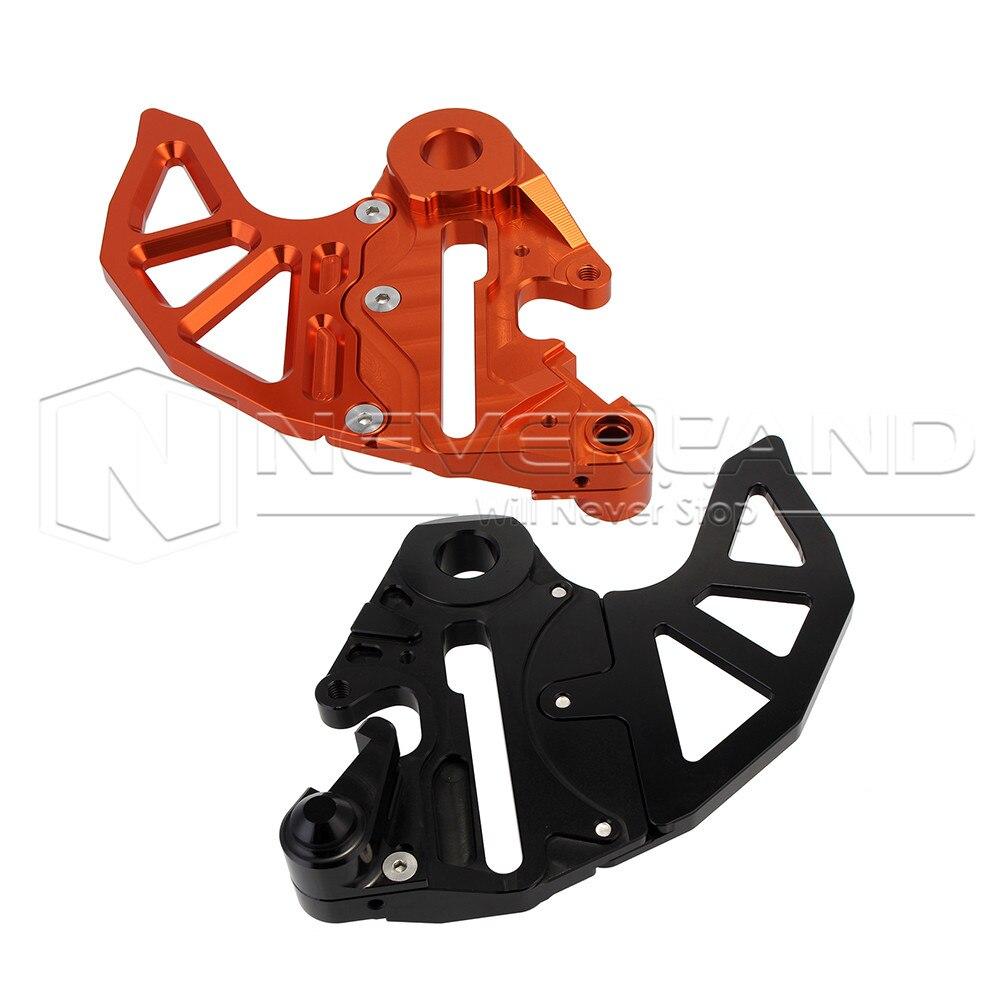 Orange/black Motorcycle CNC Billet Rear Brake Disc Guard Fits for Husaberg FE/FS/FX 250/350/390/450/501/570 2009-2014 D25 billet rear hub carriers for losi 5ive t