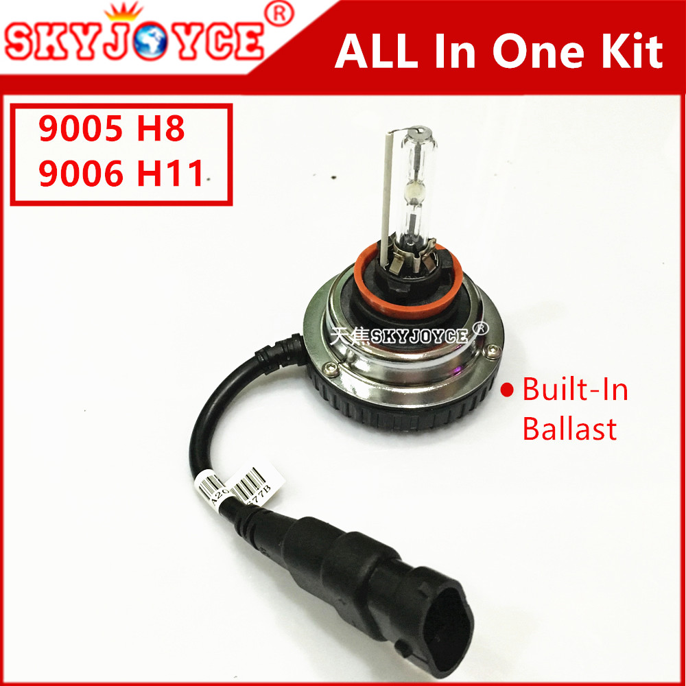 Plug and play Mini for all in one 9005 headlight high beam hid xenon kit HB3 9005 4300K 5000K 6000K 9005 xenon hid kit 35W DIY