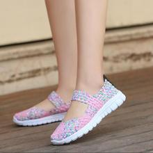 Women Woven Shoes 2018 Summer Breathable Handmade Fashion Comfortable Casual Sandals