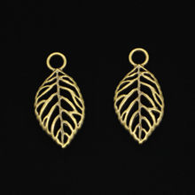 109 pcs Antique Bronze Plated tree leaf Charms for Jewelry Making DIY Handmade Pendants 32*16mm(China)
