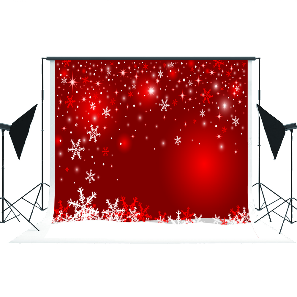 Kate Christmas Background Photography No Wrinkle Seamless Red Snow Backdrops for Photography Photo Booth Fond Studio 7x5ft