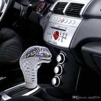 New Universal Car Gear Knob Shifter Cobra Head Shift Knob Gear Shift Knob LED Eye Personalized pommeaux de levier de vitesse