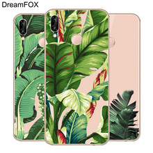 DREAMFOX M500 Green Plants Flowers Soft TPU Silicone  Case Cover For Huawei Honor 6A 6C 7X 9 10 P20 Lite Pro P Smart 2019