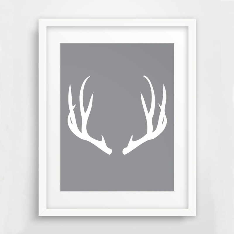 image about Printable Deer Antlers named US $7.99 White Deer Antlers Wall Artwork, Print Artwork Canvas Poste,Printable Wall Artwork, Impressive Artwork Office environment Property Decor, Body Not involved-within just Portray