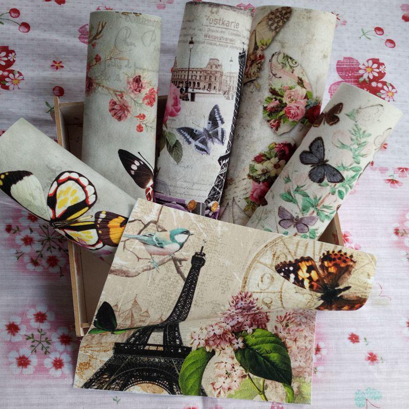 26 Type Vintage Retro European British Style Cotton Linen Fabric Patchwork Cloth
