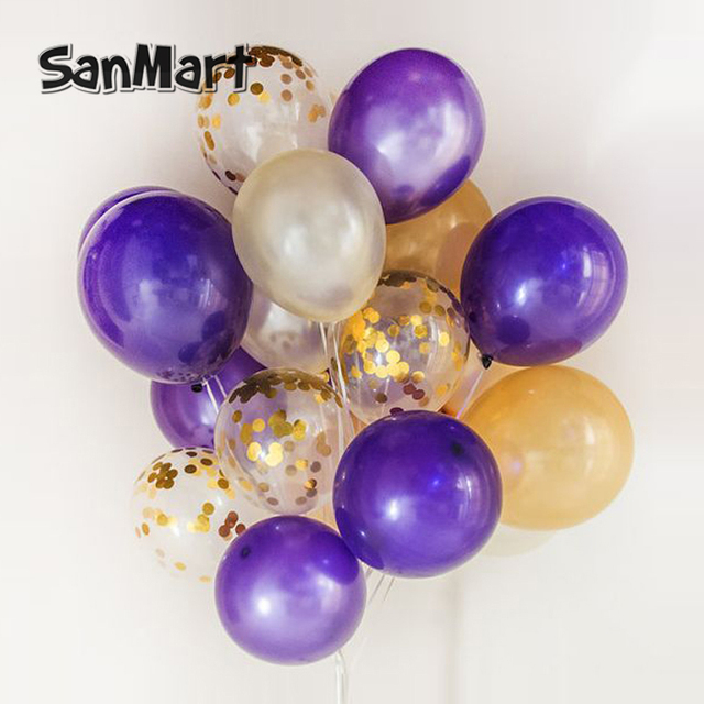 Sprinkle confetti filled balloons purple golden party girls night sprinkle confetti filled balloons purple golden party girls night themed party balloon birthday wedding decorations junglespirit Images