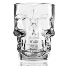 Creative Skull Glass Cup Wine Drink Bottle Personalized Glasses Mugs Water Xicara Home Transparent Juicer Cup Tea Office QQB891