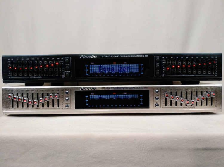 NEW arrive EQ665 equalizer hifi home EQ balanced mixer double 10 segment  stereo treble Alto bass regulation
