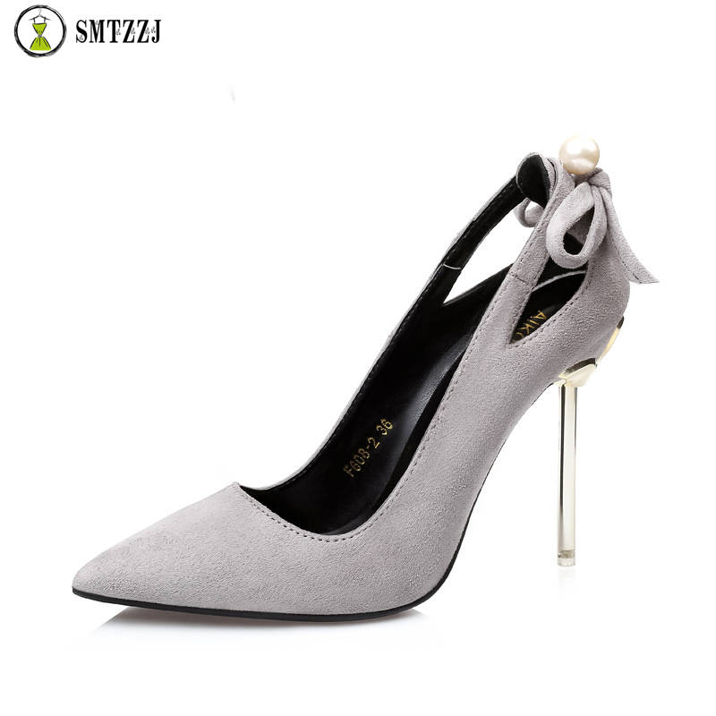 Nude Shoes Heels Luxury Pumps Black Party Woman Club 10cm