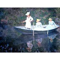 Classic Claude Monet canvas oil painting landscape pictures In the Norvegienne Boat at Giverny art for home wall decoration