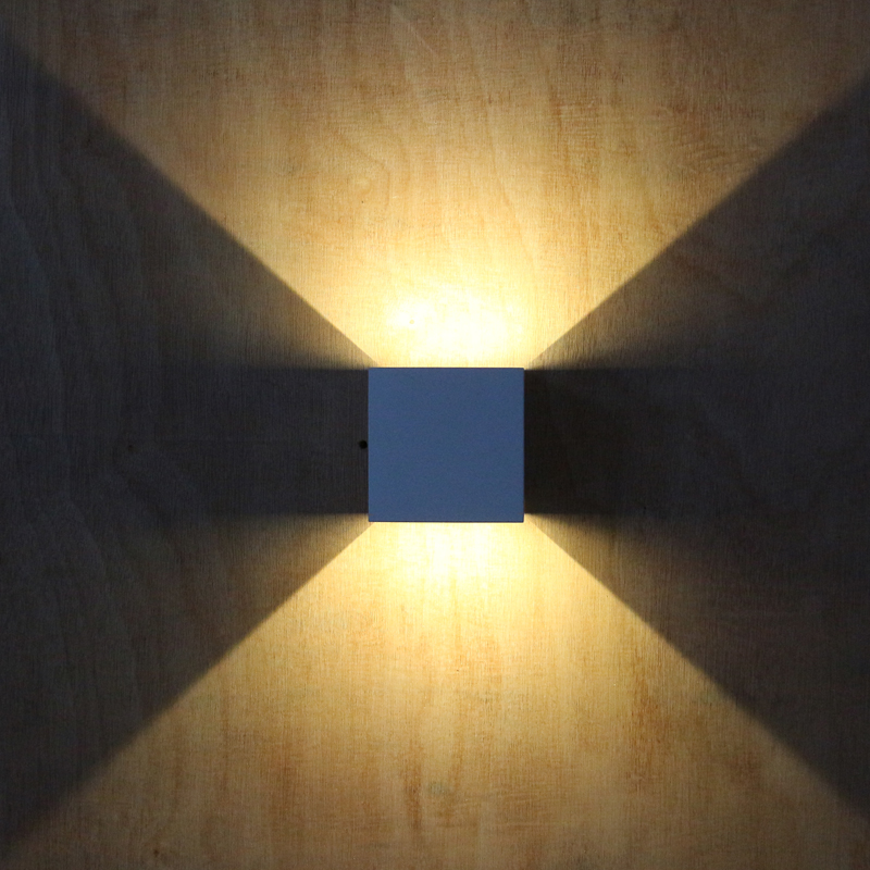 Buy waterproof cube cob led light wall for Applique exterieur up down