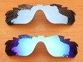 Серебро и Синий 2 Пары Зеркало Поляризованных Сменные Линзы Для RadarLock Край Вентилируемый Солнцезащитные Очки Рама 100% UVA и UVB Защиты