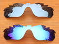 Silver & Blue 2 Pairs Mirror Polarized Replacement Lenses For RadarLock Edge Vented Sunglasses Frame 100% UVA & UVB Protection