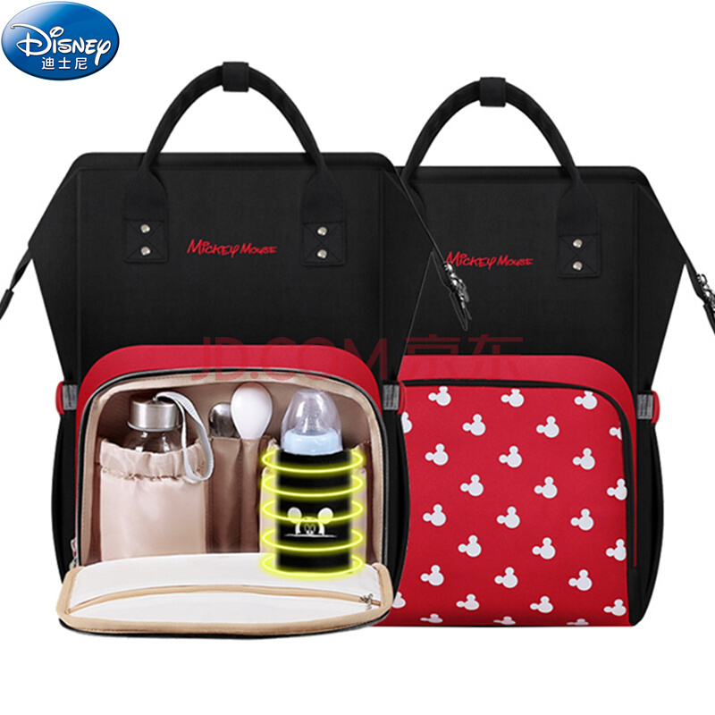 Disney Mickey Mochila Maternidade Waterproof baby food thermos Bags USB Bottle Feeding Backpack Baby A Bags For Mom Storage Bag