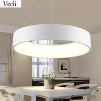 Modern Minimalist Art 32W Round LED Pendant Lamps Restaurant Dining Room Hotel Hall Office Room Acrylic