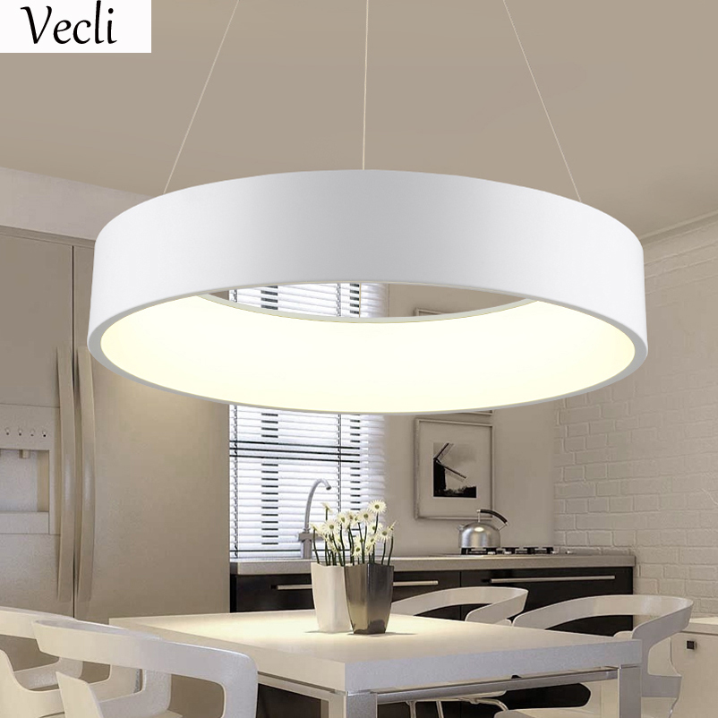>45cm round led lamp restaurant <font><b>living</b></font> room hotel hall <font><b>office</b></font> dining room Chandelier hanging light pendant lamp household suspend